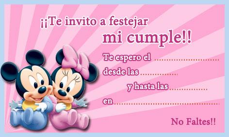 Invitaciones De Bebé Mickey Mouse Imagui