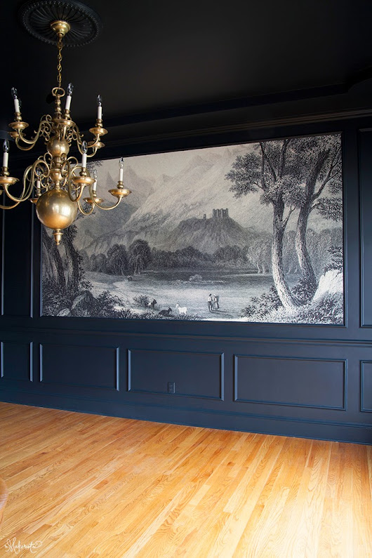 The Dining Room: Finding and Hanging the Mural