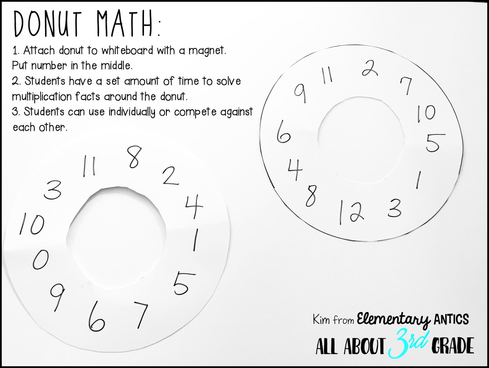 Donuts Math Color Worksheets Multiplication Donuts Best