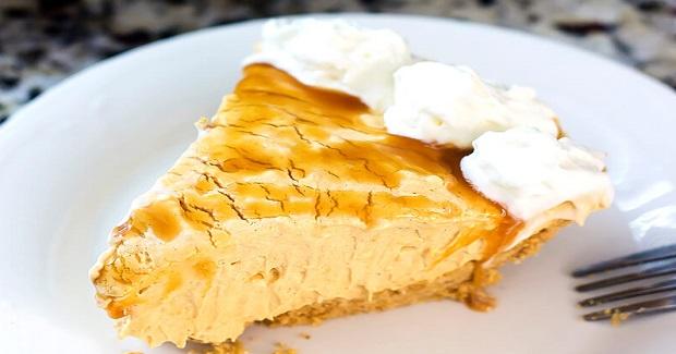 Easy No Bake Caramel Pumpkin Cheesecake Recipe