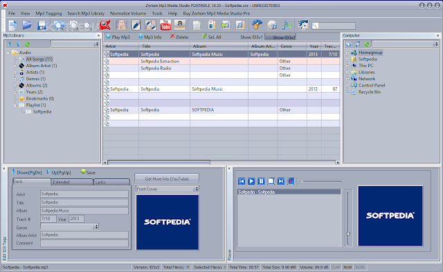 تحميل برنامج تنظيم الاغانى للكمبيوتر نسخة محمولة Zortam Mp3 Media Studio PORTABLE 20.15