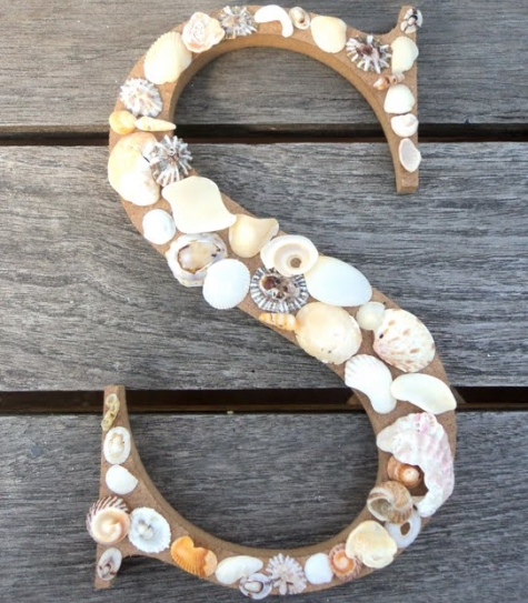 decorative shell letter