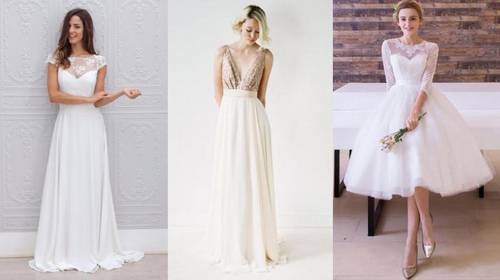 vestido de noiva para casamento estilo brunch
