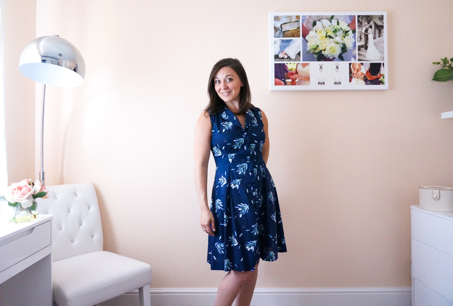 Sew Over It Vintage Shirt Dress in Lisa Comfort Fabric; Pattern and fabric review