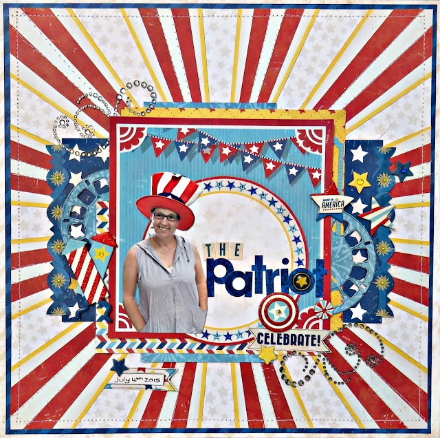 The Patriot scrapbook page Tracee Provis for Bo Bunny 1 layout 3 ways 03