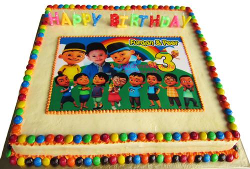 Birthday Cake Upin Ipin Aisha Puchong Jaya