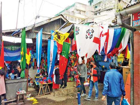 World Cup Flag fever in Darjeeling