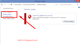 Change setting windows update