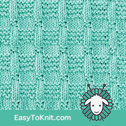 Knit Purl 14: Blocks  | Easy to knit #knittingstitches #knittingpatterns