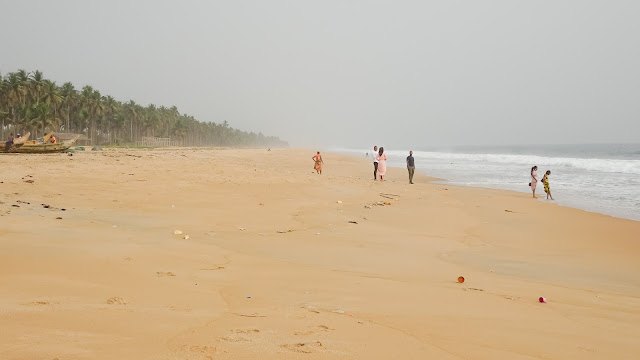 Its the name of a town in the Ivory Coast - and they have beaches