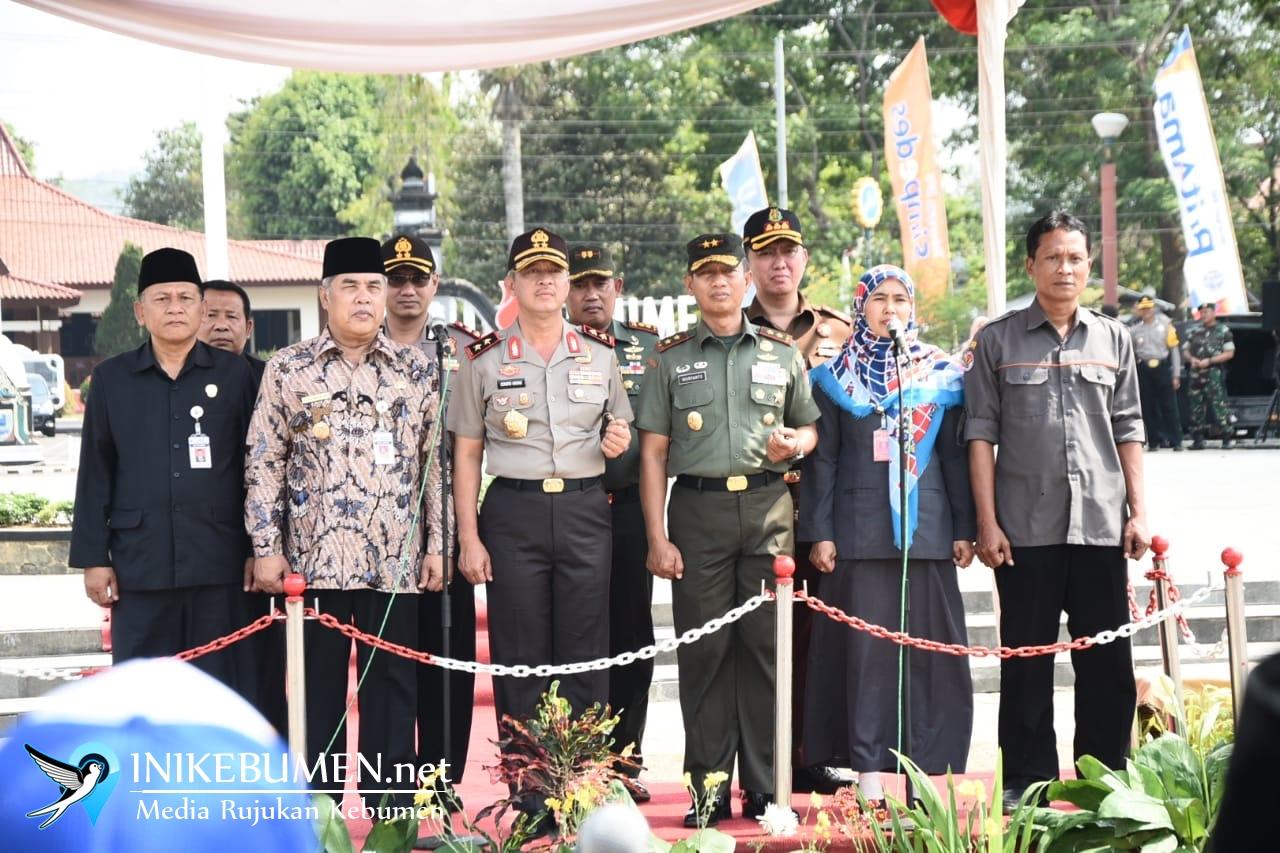 Kapolda Jateng dan Pangdam IV Diponegoro Pimpin Apel Tiga Pilar di Kebumen