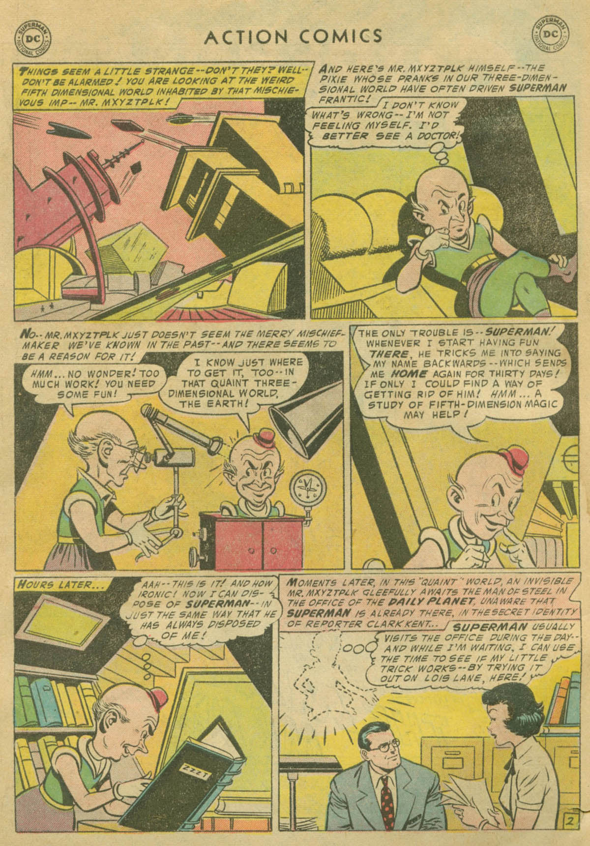 Read online Action Comics (1938) comic -  Issue #208 - 3