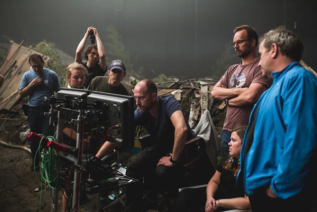 Roar Uthaug (au centre), réalisateur de Tomb Raider
