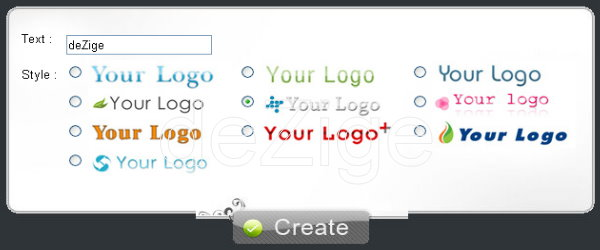 teks logo generator