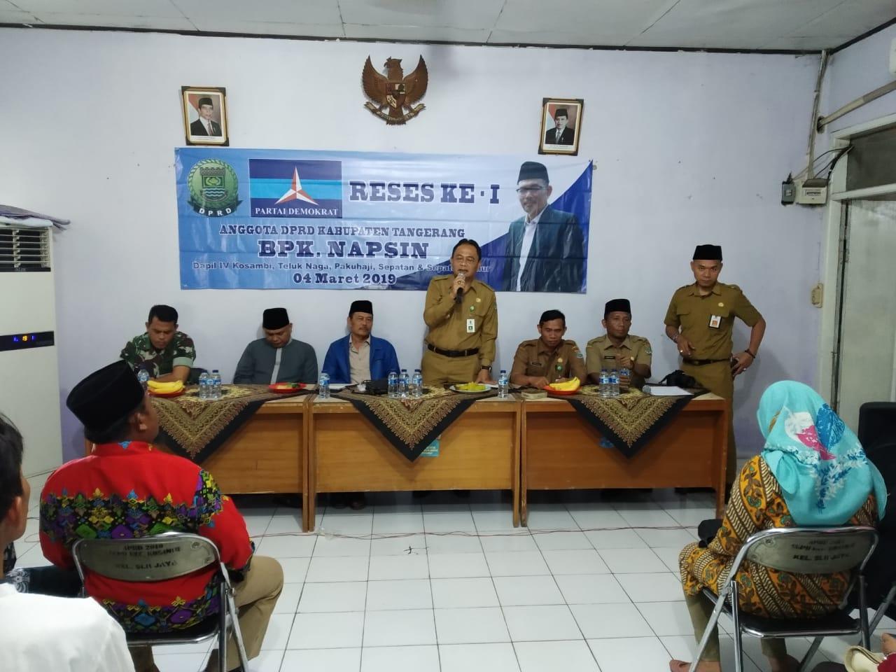 Napsin Anggota DPRD WDapil 3 Gelar Reses Di Selembaran Jaya