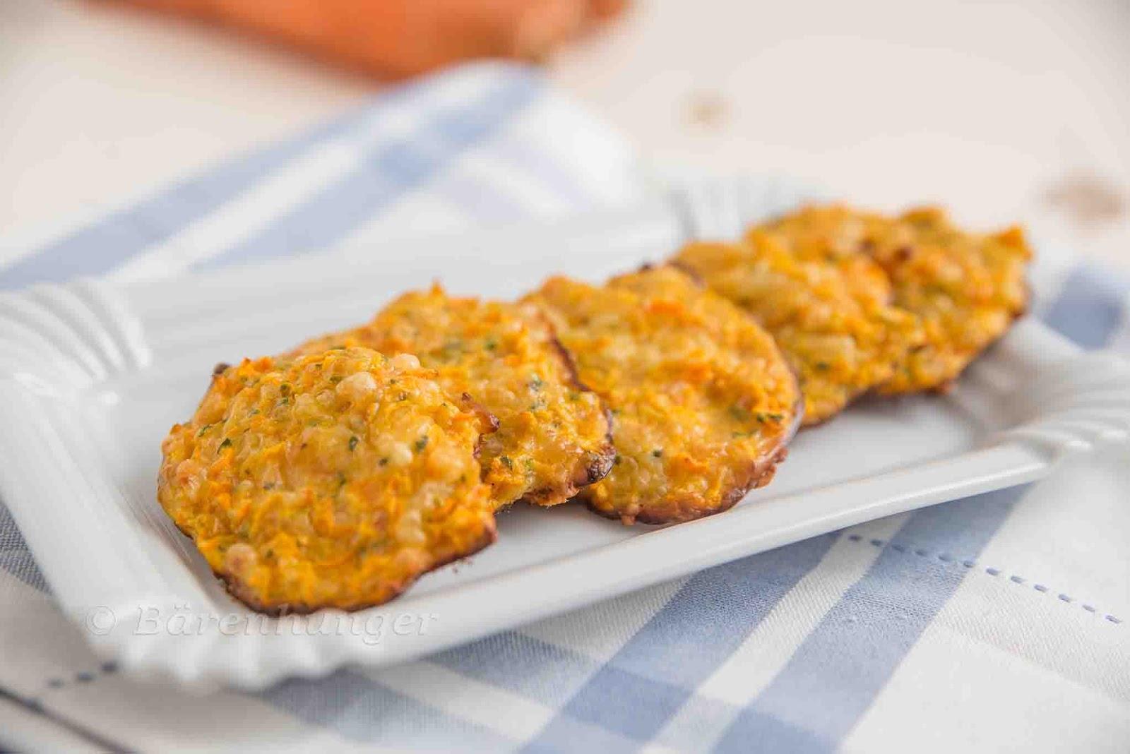 Karotten Käse Taler | Bärenhunger