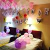 Kombinasi Balon Foil Huruf Silver & Balon Foil Dekorasi Hati