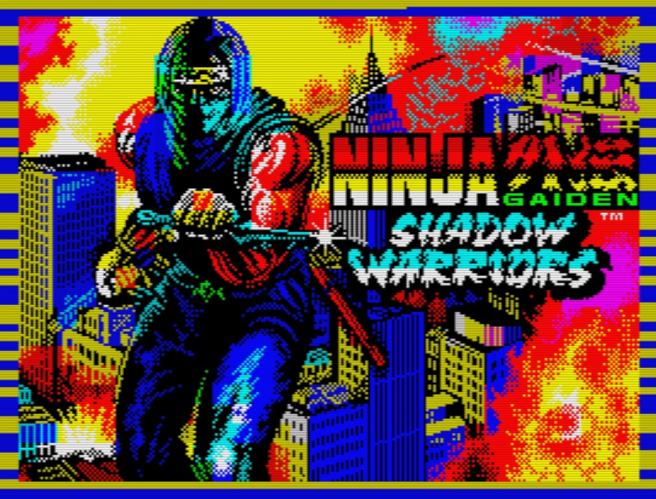 Indie Retro News Ninja Gaiden Shadow Warriors A Gameboy Game Makes Its Appearance On The Zx Spectrum