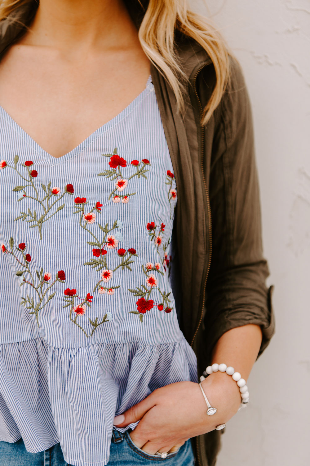 floral tank from romwe