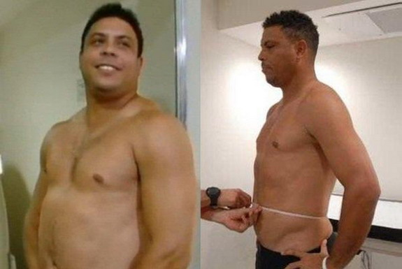 Ronaldo lost 17 kilograms in just in three months as part of a television reality show