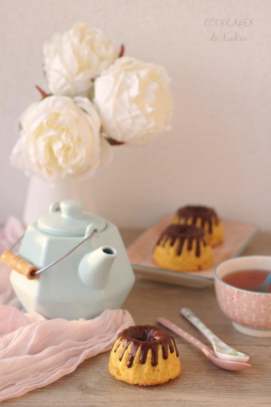 Bundt Cakes de Mango y Chocolate