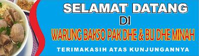 Banner Warung Bakso Cdr - desain banner kekinian