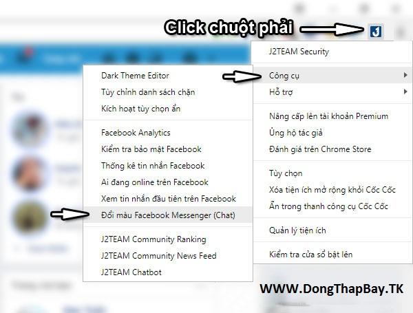 Hướng dẫn đổi màu Facebook Messenger thành màu đen mới nhất