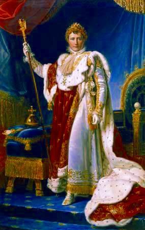 Napoleón en sus trajes imperiales, de François Gérard, 1805
