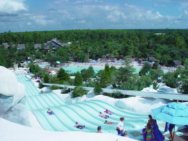 Brinquedos radicais no Blizzard Beach na Disney em Orlando