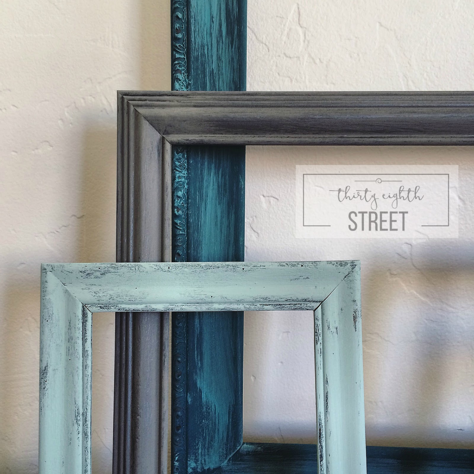 DIY Painted Thrift Store Picture Frames - Thirty Eighth Street