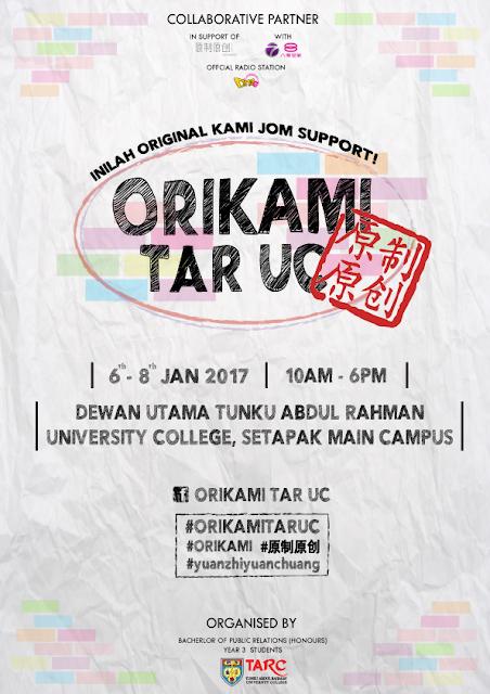 ORIKAMI TAR UC 3 DAY BAZAAR #原制原创 | 6-8 Jan 2017