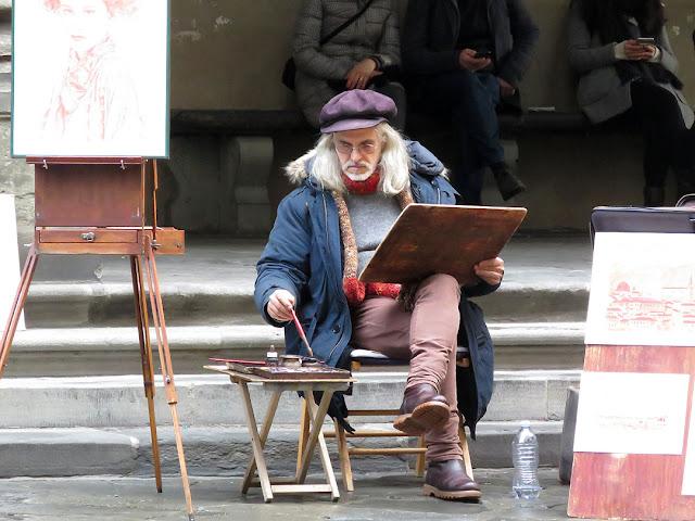 Street painter, Piazzale degli Uffizi, Florence