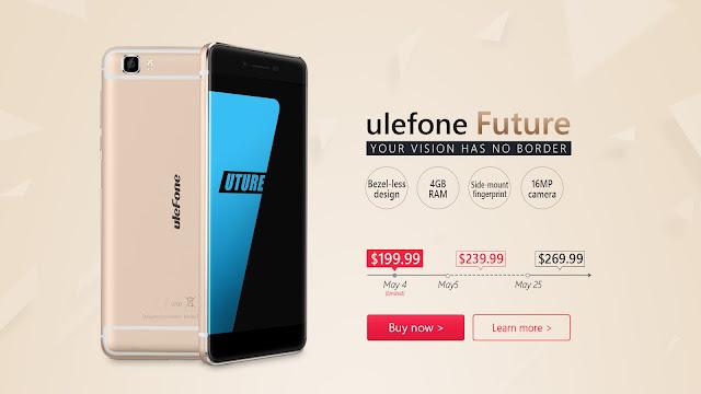Helio P10に4GB RAMでベゼルレスのUlefone Futureが遂に登場!なんと199.99ドル!