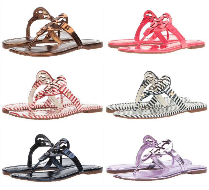New colors of the Tory Burch Miller Sandals are now on sale at Zappos +  free shipping (and returns)! Plus, the striped pairs, bright green, ...