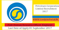 Petroleum Corporation Limited – 33 Human Resource Officer, Engineer