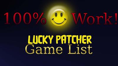 الألعاب التي يمكن تهكيرها ببرنامج لوكي باتشر Lucky Patcher