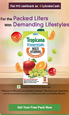Free Tropicana Essentials - free Rs.60 product is free | Lybrate free sample offer