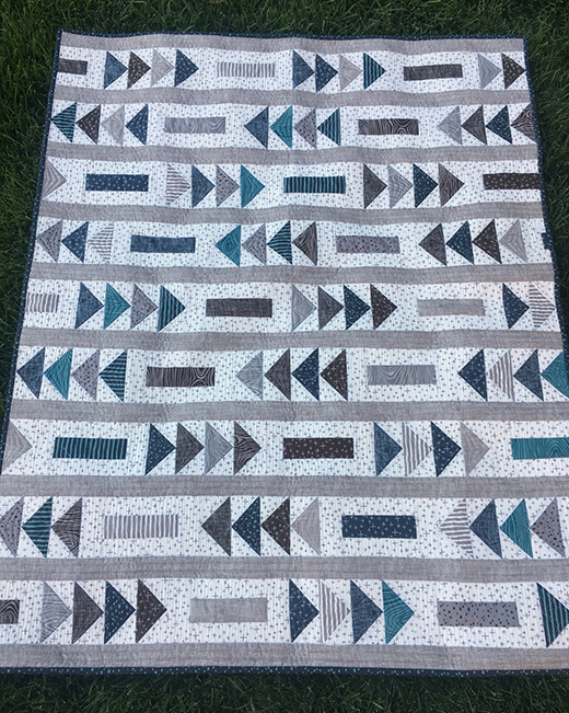 Flight Path Quilt Free Tutorial Designed by Kimberly Bourne of Main Street Market Designs