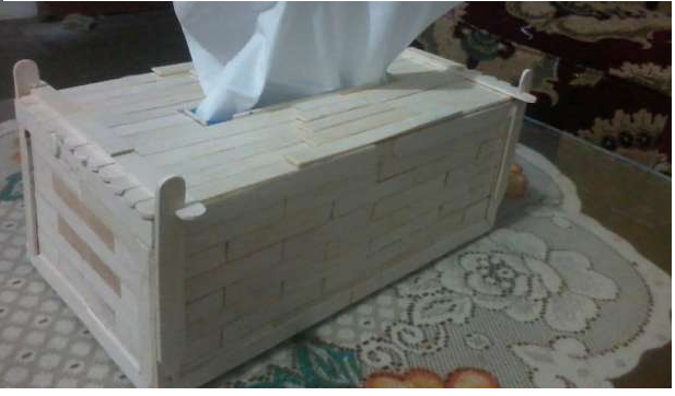 Cara Membuat Kotak Tisu dari Stik Es Krim - Bisnis Borneo - Belajar ... eb1b23514b