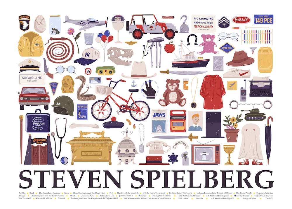 02-Steven-Spielberg-Maria-Suarez-Inclan-Movie-Illustrations-Infographic-Guess-the-Film-www-designstack-co