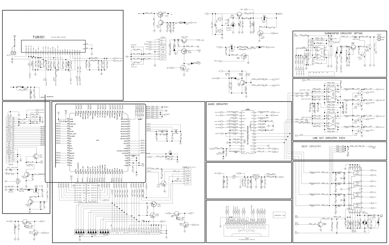 Electro Help Buster Hbd Mp Car Audio Circuit Diagram