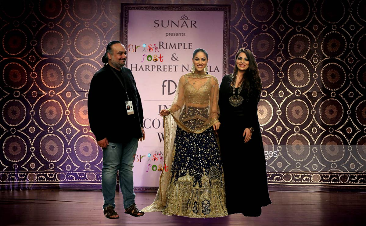 A ramp walk of beautiful Yami Gautam in Rimple and Harpreet Narula at India Couture runway to showcase Hiraeth