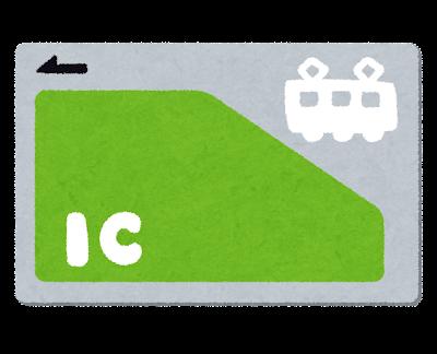 交通系のICカードのイラスト