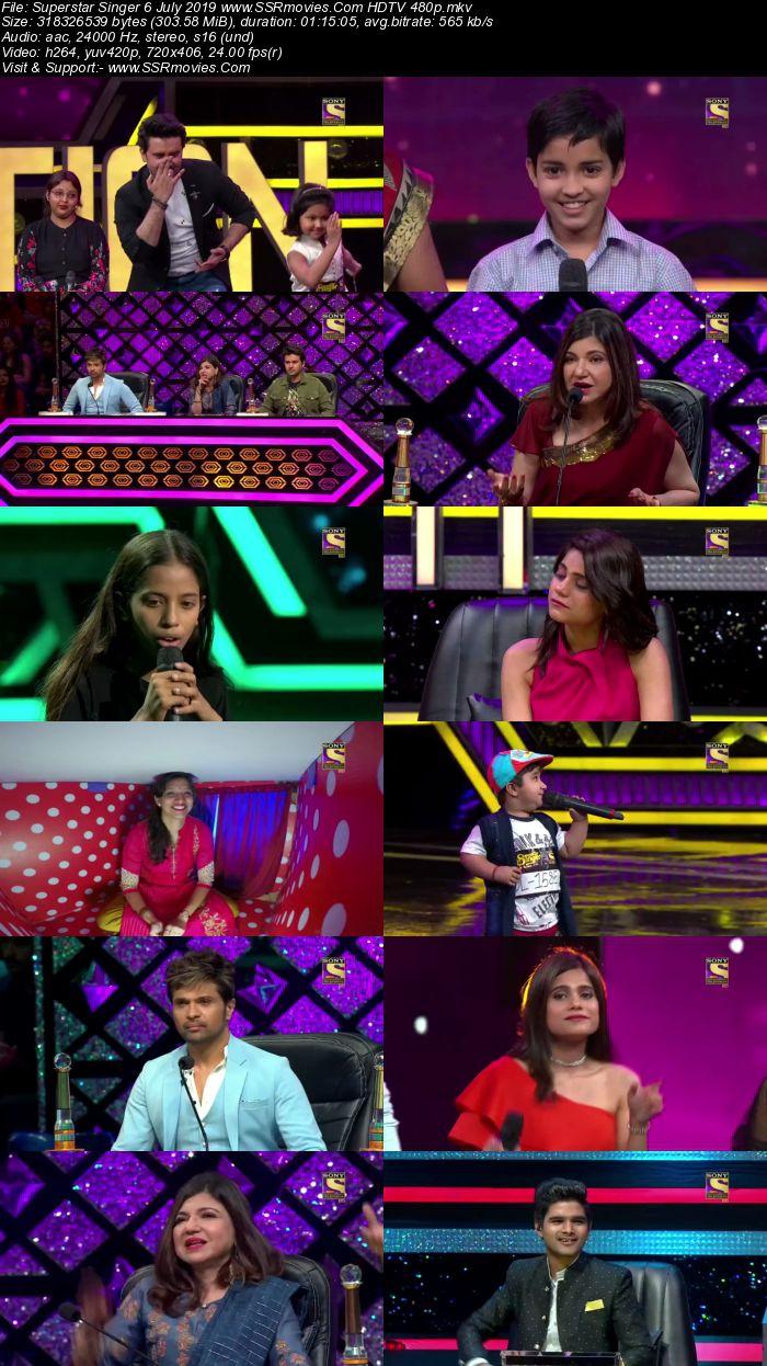 Superstar Singer 6 July 2019 HDTV 480p Full Show Download