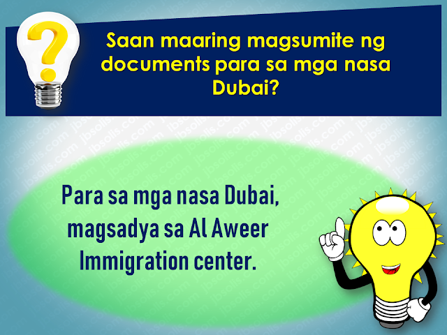 Filed under the category of Abu Dhabi, Al Ain, consulates, Crackdown, Dubai, Embassies, Emirati population, EXPATRIATES, Filipinos in the UAE, illegal residency, illegal residents, ofw, overseas Filipinos workers, United Arab Emirates  There are almost 700,000 overseas Filipinos workers (OFW) living in the United Arab Emirates (UAE), 450,000 of which live in Dubai comprising 21.3% of the total population of Dubai. It is the largest population of Filipinos in the UAE, followed by Abu Dhabi and Al Ain. OFWs in the UAE sent over US$500 million in remittances to the Philippines. The UAE is home to over 200 nationalities. Emirati population is only about 20% of the total population.   To address illegal residency issues, the UAE government is giving amnesty to the expatriates, giving them a chance to correct their residency status before the anticipated crackdown on illegal residents. The amnesty 3-month amnesty period will begin on August 1 until October 31 this year.  Embassies and various consulates representing the expatriates are also expected to coordinate with its nationals during the amnesty period.  Advertisement         Sponsored Links         Expatriates who are staying illegally in the UAE are encouraged to apply for the amnesty. For more information and guidance about what the amnesty is all about and how to avail of it, please check out these useful questions and answers concerning the amnesty to be given to the expats who have issues with their residency in the Gulf state.  1. What is the duration of the amnesty?  Residents can avail of the amnesty for three months from August 1 to October 31  2. Who are the people eligible for amnesty?  The individuals who are staying illegally in the country can apply for amnesty.  3.  What are the two options available for illegal residents under amnesty? Those who wish to exit the country can go back to their home countries without paying fines or facing a jail term. Or individuals can regularise their status by getting a new visa under a sponsor.  4.  Will those who entered the country illegally be given amnesty?  Yes. But they will exit the country with a two-year ban.  5. Will there be a permanent ban on reentering the UAE for those who avail of amnesty?  No. There will be no ban, and people can re-enter the country on valid visas.  6.  Will the applicant have to pay to overstay fines before modifying their illegal status?  No. Applicants of amnesty will get a waiver on all overstaying fines.  7. What kind of violations will not fall under the amnesty scheme? People who have been blacklisted and also those who have legal cases against them are not eligible for amnesty. All residency violations will fall under the amnesty scheme.  8. Can those who have an absconding report against them apply for amnesty?  Yes, Immigration authorities will remove the absconding report and issue exit permit without a ban.  9. Can applicants who modify their status apply for jobs in the UAE? A: Yes. Applicants can register in the virtual job market available on the website of the Ministry of Human Resources and Emiratisation  10. How long can those who modified their residency status stay in the country to look for jobs? A: People looking for jobs can obtain a six-month temporary visa to look for employment.  11. How can residents apply for amnesty?  A: Illegal residents wishing to exit the country can approach the Immigration department and get an exit permit.  12. What are the documents residents need to submit? A: Residents need to submit the original passport or EC (emergency certificate). They also need to submit an air ticket along with the application.  13. What is the fee for applying for exit permit? A: A fee of AED220 is charged on the exit permit.  14. What is the fee for modifying residency status? A: A fee of AED500 is charged.  15. Can residents without passports apply for amnesty? A: Yes, Residents without passports can also apply.  16. What is the time period to exit the country after getting the exit pass? A: Individuals have to exit within 10 days of getting the exit pass.  17. How can those who cannot come to the Immigration apply for amnesty? A: Immigration will issue exit permits based on medical reports or letter from the embassy or consulate.  18. How many amnesty service centers have authorities established across the UAE? A: A total of nine centers have been established at the centers of the General Directorates of Residency and Foreign Affairs across the UAE.  19. Where are the centers in Abu Dhabi located? A: Al Ain, Shahama, and Al Garbia  20. Where can people submit their documents in Dubai? A: At Al Aweer Immigration center  21. What is the location for other emirates? A: The amnesty centers are located at the Immigration Offices in the emirates.  22. What are the timings for the centers? A: The amnesty service centers will open from 8am to 8pm.  Families coming from war-torn countries like Syria and Yemen will be granted a one-year residence visa without restrictions attached.    Meanwhile, a social media post from the Philippine Embassy in the UAE said that for the OFWs who wish to be repatriated to the Philippines, the Philippine government will shoulder their one-way plane ticket and other fees.   However, the embassy clarifies that it is only applied to only those who are willing to go back home.  For more information regarding the details of the amnesty, keep in touch with  Philippine Embassy in Abu Dhabi or send an email to atn.abudhabi@gmail.com    For those who are in Dubai and the Northern Emirates, they can go to the Philippine Consulate in Dubai  or send an email to amnesty@pcgdubai.ae or call 04 220 7100    Filed under the category of Abu Dhabi, Al Ain, consulates, Crackdown, Dubai, Embassies, Emirati population, EXPATRIATES, Filipinos in the UAE, illegal residency, illegal residents, ofw, overseas Filipinos workers, United Arab Emirates  READ MORE:  Find Out Which Country Has The Fastest Internet Speed Using This Interactive Map    Find Out Which Is The Best Broadband Connection In The Philippines   Best Free Video Calling/Messaging Apps Of 2018    Modern Immigration Electronic Gates Now At NAIA    ASEAN Promotes People Mobility Across The Region    You Too Can Earn As Much As P131K From SSS Flexi Fund Investment    Survey: 8 Out of 10 OFWS Are Not Saving Their Money For Retirement    Can A Virgin Birth Be Possible At This Millennial Age?    Dubai OFW Lost His Dreams To A Scammer    Support And Protection Of The OFWs, Still PRRD's Priority