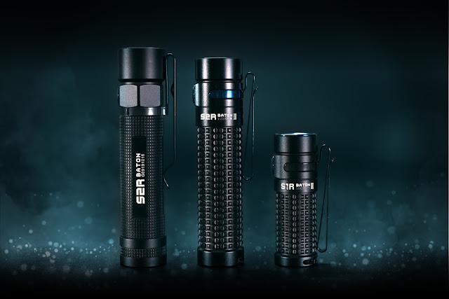 Od lewej: Olight S2R Baton, Olight S2R BatonII oraz Olight S1R BatonII