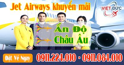 Mua vé máy bay khuyến mãi Jet Airways đi Ấn Độ và Châu Âu mới nhất