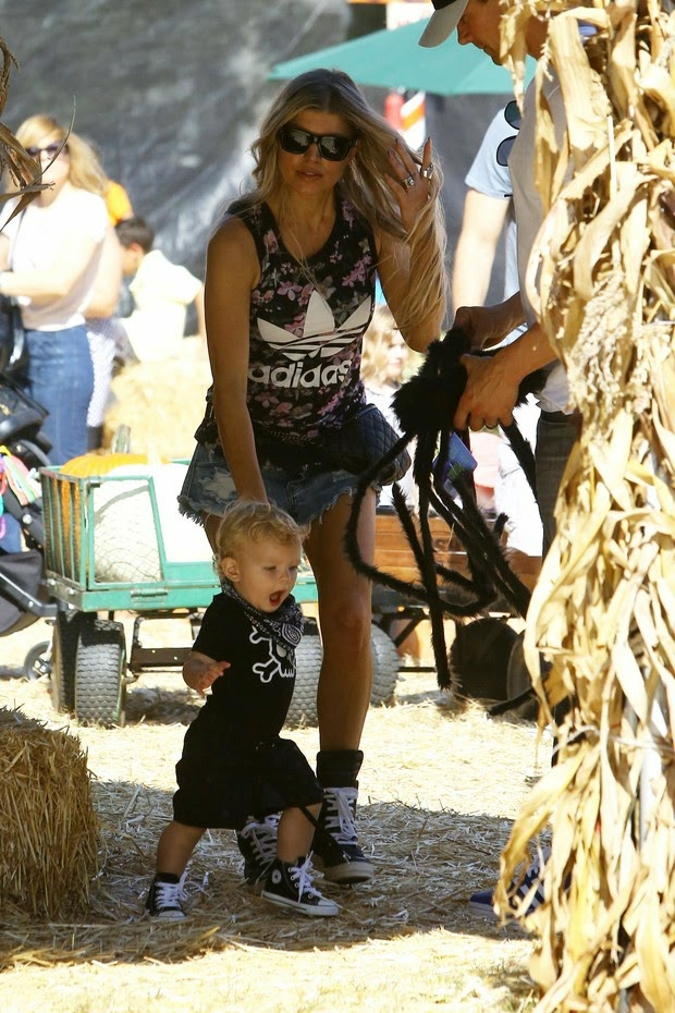 Fergie and son, Axl