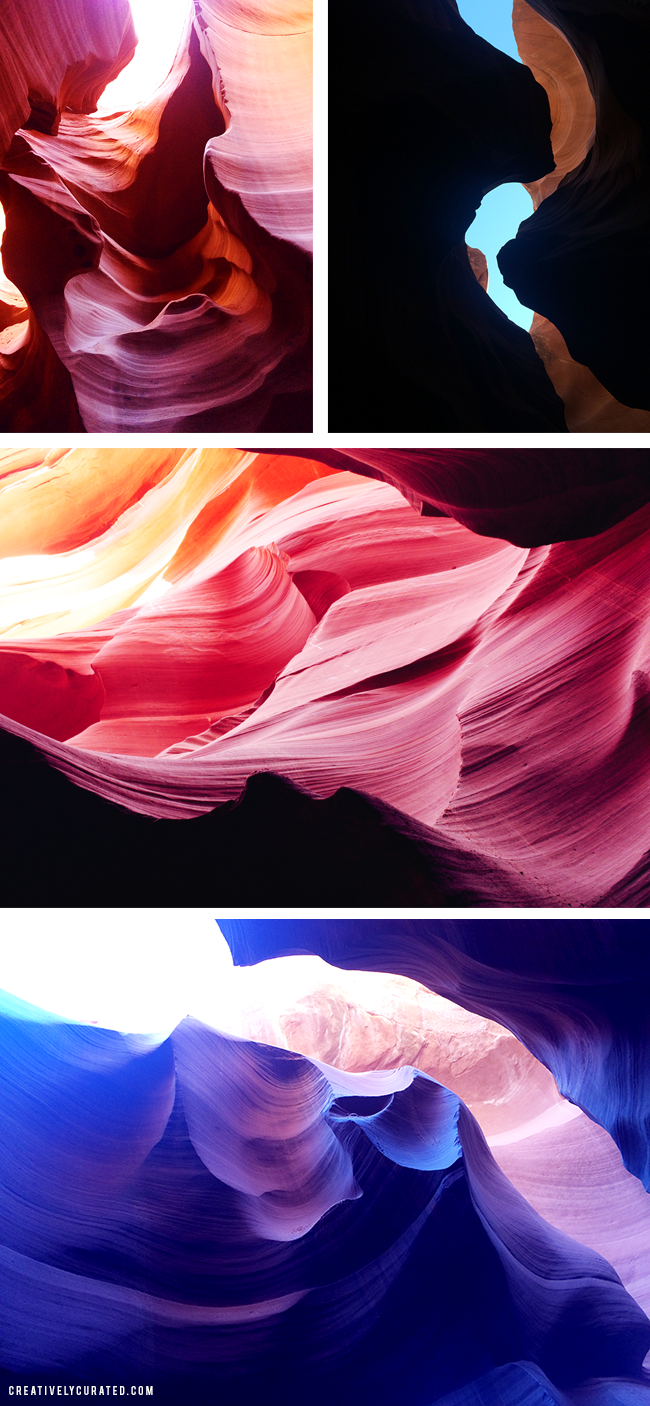 ANTELOPE CANYON, PAGE AZ featured on CreativeCurated.com #places #creativelycurated #sandidevenny
