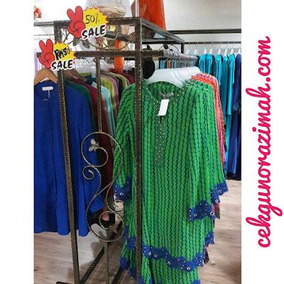 Butik aqid aqila, jualan penghabisan stok, jubah murah, kurung moden murah